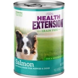 Health Extension Grain-Free Salmon Entree Canned Dog Food, 12.5-oz, case of 12