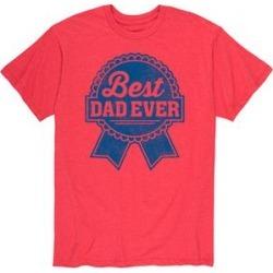Instant Message Mens Men's Tee Shirts HEATHER - Heather Red 'Best Dad Ever' Tee - Men