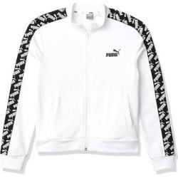 Puma Men's Amplified Track Jacket, White, Large found on Bargain Bro from Overstock for USD $34.95