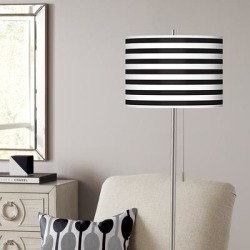 Giclee Black Stripe Brushed Nickel Pull Chain Floor Lamp found on Bargain Bro from LAMPS PLUS for USD $136.79