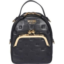 Logo Zipped Backpack - Black - Moschino Backpacks found on Bargain Bro from lyst.com for USD $611.04