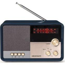 Crosley Electronics Tribute Decorative Radio in Blue, Size 4.0 H x 6.25 W x 3.8 D in   Wayfair CR3036D-NV found on Bargain Bro Philippines from Wayfair for $39.95
