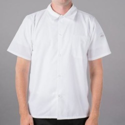 Mercer Culinary Millennia® M60200 White Unisex Customizable Air Short Sleeve Cook Shirt with Full Mesh Back - 6X found on Bargain Bro India from webstaurantstore.com for $15.99