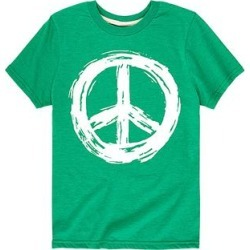Instant Message Tee Shirts KELLY - Kelly Green Painted Peace Sign Tee - Toddler & Kids found on Bargain Bro India from zulily.com for $10.99