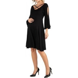 Maternity Knee Length Cold Shoulder Dress found on Bargain Bro Philippines from Overstock for $25.64