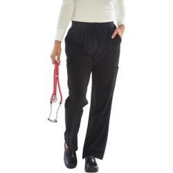 Green Town Scrubs Women's Scrubs Bottoms Black - Black Pocket Stretch Scrub Pants - Women found on Bargain Bro from zulily.com for USD $9.11