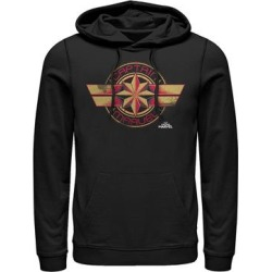 Fifth Sun Men's Sweatshirts and Hoodies BLACK - Captain Marvel Black Badge Hoodie - Men found on Bargain Bro from zulily.com for USD $28.87
