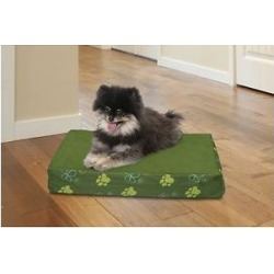 FurHaven Indoor/Outdoor GardenMemory Foam Cat & Dog Bed w/Removable Cover, Jungle Green, Small found on Bargain Bro India from Chewy.com for $22.99