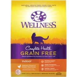 Wellness Complete Health Grain Free Indoor Chicken & Chicken Meal Recipe Dry Cat Food, 11.5 lbs. found on Bargain Bro Philippines from petco.com for $32.29