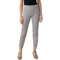 Franca Parasol Print Ankle Pants - Black - Akris Punto Pants found on MODAPINS from lyst.com for USD $495.00
