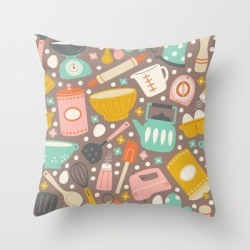 Couch Throw Pillow | In The Kitchen by Allison Romero Design - Cover (16