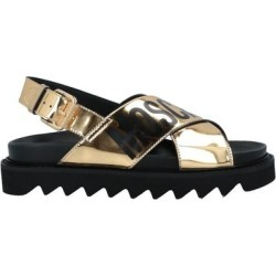 Sandals - Metallic - Moschino Flats found on Bargain Bro Philippines from lyst.com for $205.00
