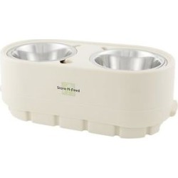 Pet Zone Store-N-Feed Adjustable Elevated Dog & Cat Bowls, 2.95-cup found on Bargain Bro India from Chewy.com for $39.95
