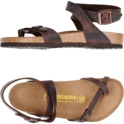 Toe Strap Sandal - Brown - Birkenstock Flats found on MODAPINS from lyst.com for USD $119.00