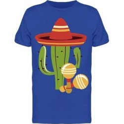 Cactus And Maracas Tee Men's -Image by Shutterstock (M), Blue found on Bargain Bro Philippines from Overstock for $14.99