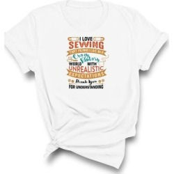 I Love Sewing T-Shirt (XXL - Grey), Adult Unisex, Gray found on Bargain Bro India from Overstock for $26.99
