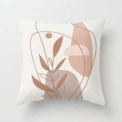 Couch Throw Pillow | Abstract Shapes No.22 by City Art - Cover (16