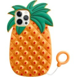 Shou Cellular Phone Cases Pineapple - Orange & Green Pineapple Stress-Relief Silicone Phone Case found on Bargain Bro Philippines from zulily.com for $9.99