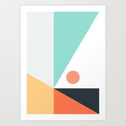 Art Print | Geometric 1712 by The Old Art Studio - X-Small - Society6 found on Bargain Bro India from Society6 for $21.59