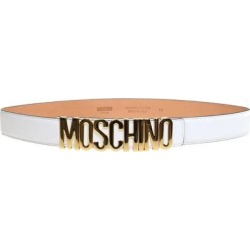 Lettering Logo Belt - White - Moschino Belts found on Bargain Bro India from lyst.com for $260.00