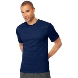 Hanes Cool DRI TAGLESS Men's T-Shirt (Navy - S), Blue found on Bargain Bro India from Overstock for $17.14
