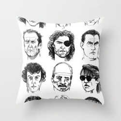 Throw Pillow   80s Action Stars by Sara Shaffer - Cover (16