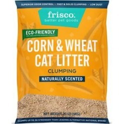 Frisco Unscented Clumping Corn & Wheat Cat Litter, 20-lb bag found on Bargain Bro from Chewy.com for USD $14.36