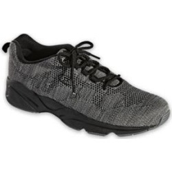 Men's Propet Stability Fly Shoes, Dark Grey/Light Grey 14 M Medium found on Bargain Bro from Blair.com for USD $64.59