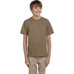 Fruit of the Loom 3931B Youth 5 oz. HD Cotton T-Shirt in Safari size XL 3930BR found on Bargain Bro from ShirtSpace for USD $1.79