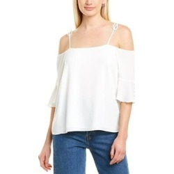 Vince Camuto Tie Strap Top (00), Women's, White(polyester) found on Bargain Bro India from Overstock for $32.99