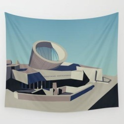 "Soviet Modernism: Youth Metro Station In Yerevan, Armenia Wall Hanging Tapestry by Nvard Yerkanian - 51"" x 60"""