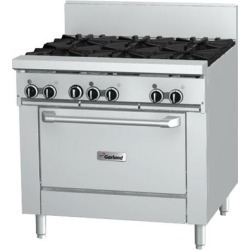 """Garland GF36-6R Natural Gas 6 Burner 36"""" Range with Flame Failure Protection and Standard Oven - 194,000 BTU"""