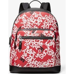 Michael Kors Hudson Scattered Logo Backpack Red One Size found on Bargain Bro Philippines from Michael Kors for $373.50
