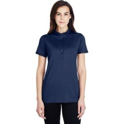 Under Armour 1317218 Women's Corporate Performance Polo 2.0 Shirt in Mid Navy Blue/White _410 size Large | polyester/elastane found on Bargain Bro from ShirtSpace for USD $32.76