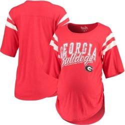 Georgia Bulldogs Touch by Alyssa Milano Women's Maternity Linebacker Half-Sleeve T-Shirt - Red found on Bargain Bro India from Fanatics for $39.99