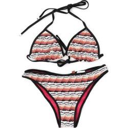 Colour Block Crochet Two-piece Bikini - Red - Missoni Beachwear found on Bargain Bro from lyst.com for USD $257.64