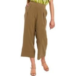 Natori Sanded Twill Cropped Pant (S), Women's, Green found on Bargain Bro Philippines from Overstock for $62.99