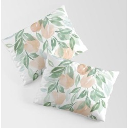 King Size Pillow Sham | Peach Tree by Clexo - STANDARD SET OF 2 - Cotton - Society6 found on Bargain Bro from Society6 for USD $30.39