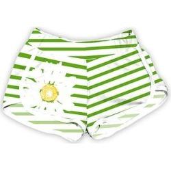 Urban Smalls Women's Casual Shorts Multi - White & Green Stripe Daisy Dolphin-Hem Shorts - Women & Plus found on Bargain Bro India from zulily.com for $14.99
