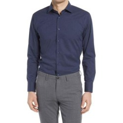 Trim Fit Non-iron Chambray Dress Shirt - Blue - Nordstrom Shirts found on Bargain Bro from lyst.com for USD $53.20