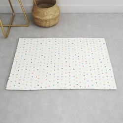 Confetti Dots Modern Throw Rug by Ashleysally00 - 2' x 3' found on Bargain Bro Philippines from Society6 for $39.20