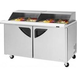 "Turbo Air TST-72SD-30-N-SL 72"" 3 Door Mega Top Sliding Lid Refrigerated Sandwich Prep Table"