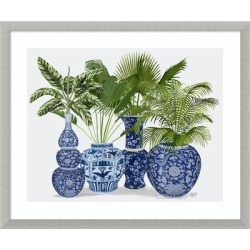 Chinoiserie Vase Group 1 by Fab Funky Framed Wall Art Print found on Bargain Bro Philippines from Overstock for $138.99