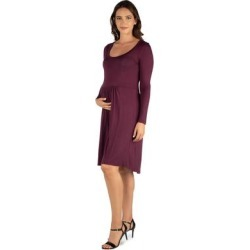 24seven Comfort Apparel Casual Long Sleeve Pleated Maternity Dress found on Bargain Bro Philippines from Overstock for $28.89