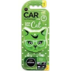 Aroma Car Love Pets Cat Fancy Green Car Air Freshener found on Bargain Bro from Chewy.com for USD $3.03