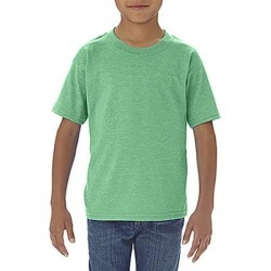 Gildan G645P Toddler Softstyle 4.5 oz. T-Shirt in Heather Irish Green size 2 | Cotton G64500P, 64500P found on Bargain Bro from ShirtSpace for USD $3.00