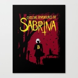 Canvas Print | Chilling Adventures Of Sabrina by Alejandro Barrios - MEDIUM - Society6 found on Bargain Bro from Society6 for USD $66.87