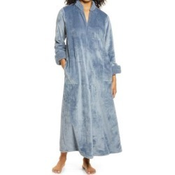 Faux Fur Velour Caftan - Blue - Natori Dresses found on Bargain Bro Philippines from lyst.com for $130.00