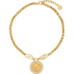 Gold Icon Medusa Necklace - Metallic - Versace Necklaces found on Bargain Bro from lyst.com for USD $376.20
