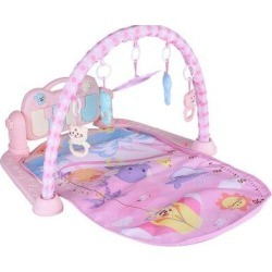 GREATCO INC Pad Pedal Piano Music Fitness Rack Crawling Baby Gym w/ Hanging Toys in Pink, Size 0.5 H x...